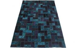 Patchwork Rug Purple Blue in 250x160cm