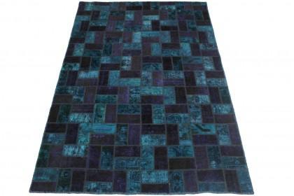 Patchwork Teppich Lila Blau in 250x160cm