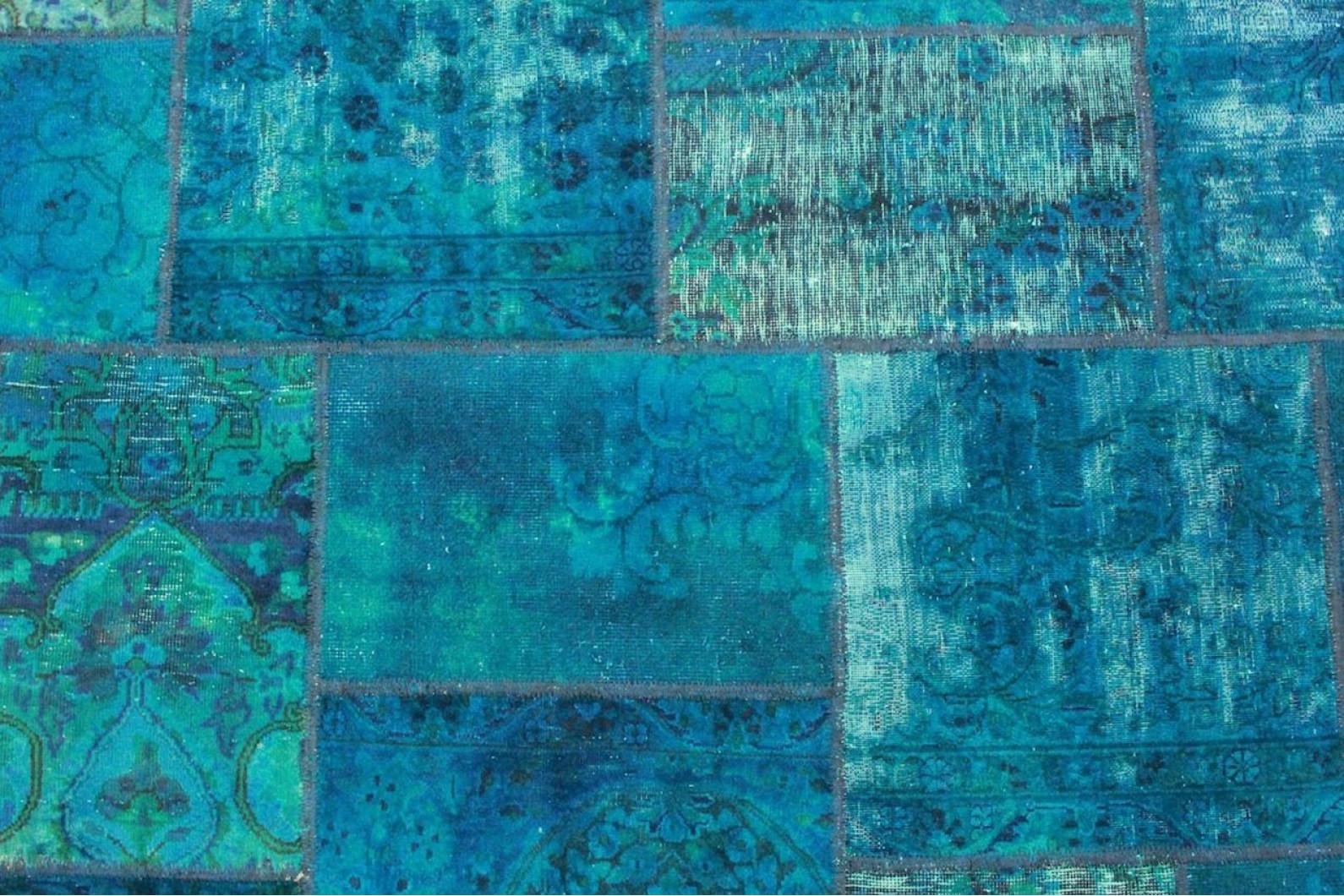 patchwork teppich blau in 240x170cm 1001 2164 bei kaufen. Black Bedroom Furniture Sets. Home Design Ideas
