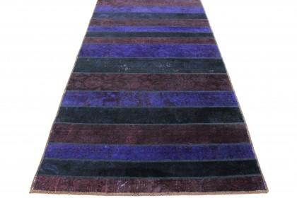 Patchwork Teppich Rot Lila Schwarz in 1040x120cm 1001-2167