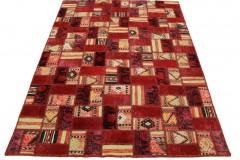 Patchwork Teppich Rot in 200x140cm