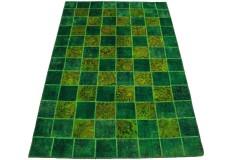 Patchwork Teppich Grün in 244x160cm