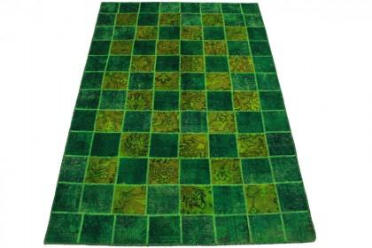 Patchwork Teppich Grün in 244x160cm 1001-2192
