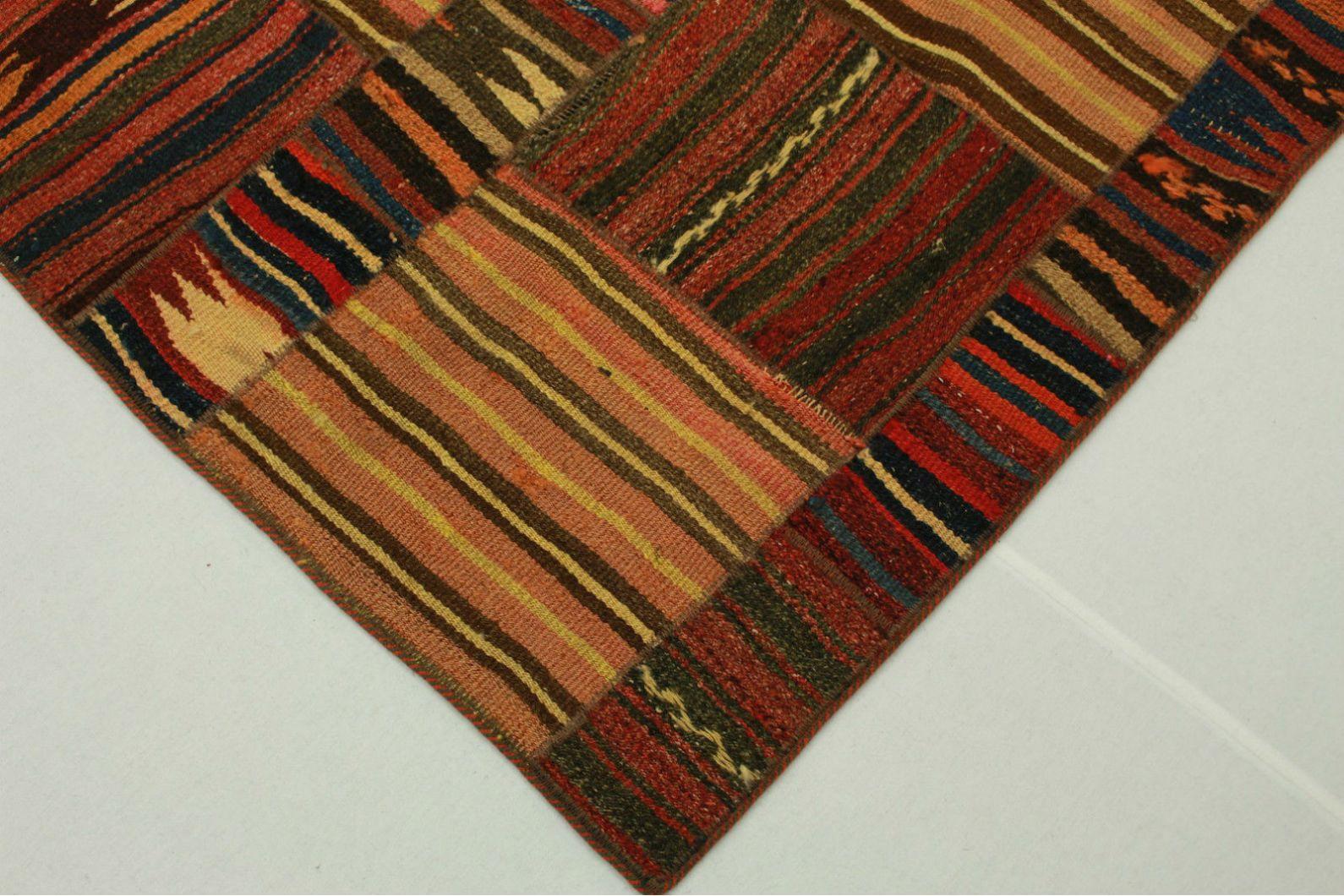 kelim patchwork teppich braun rosa in 250x170cm 1001 2203. Black Bedroom Furniture Sets. Home Design Ideas