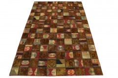 Patchwork Teppich Rot Curry in 300x200cm