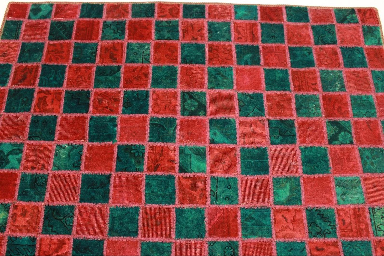 patchwork rug red turquoise in 200x160cm 1001 2313 buy online at. Black Bedroom Furniture Sets. Home Design Ideas