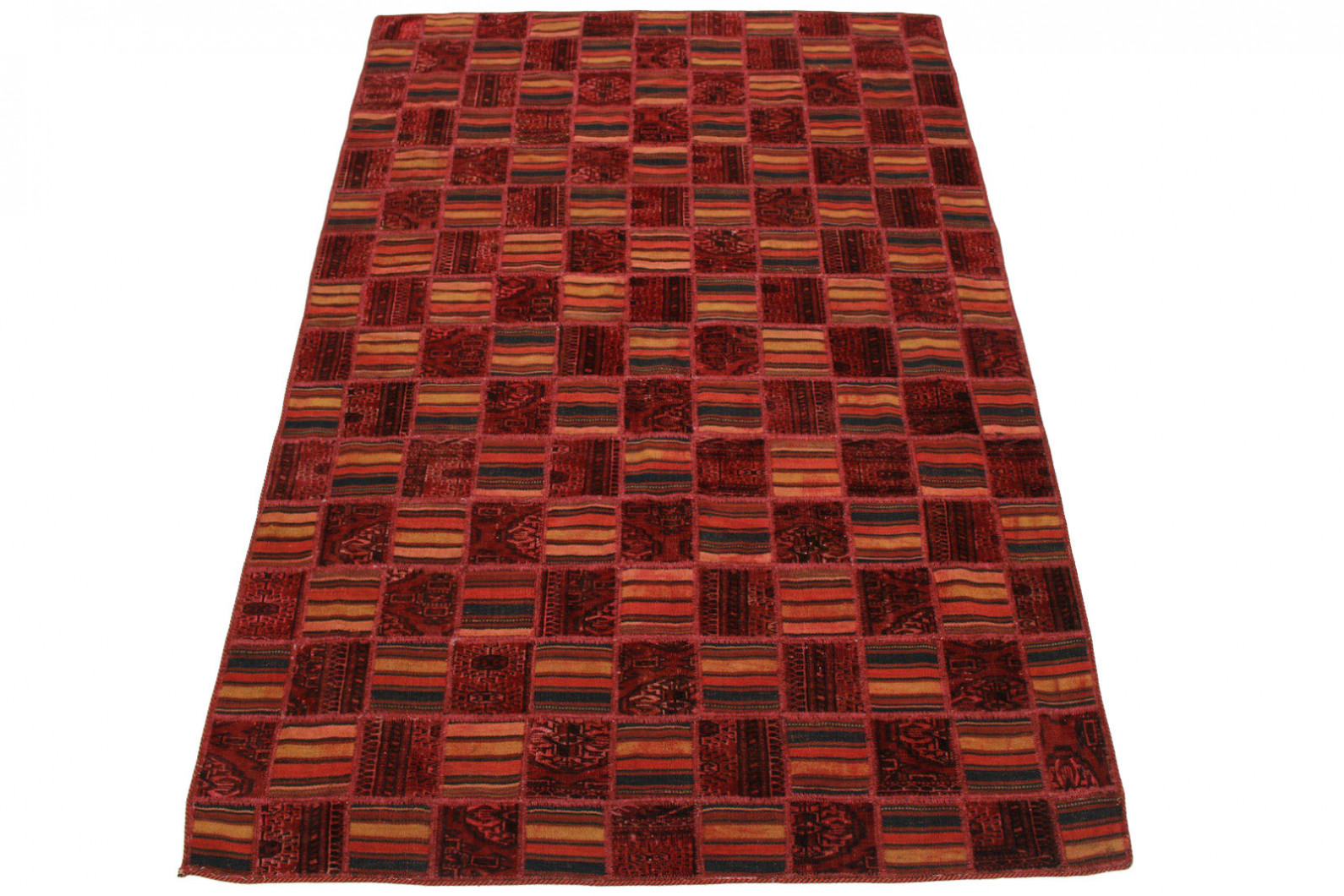 Patchwork Teppich Rot in 240x160cm