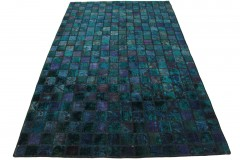 Patchwork Teppich Türkis Violett in 270x170cm