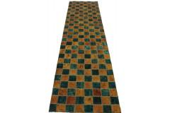 Patchwork Teppich Läufer Türkis in 320x80cm
