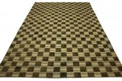 Patchwork Teppich Braun Beige Weiß in 290x200cm