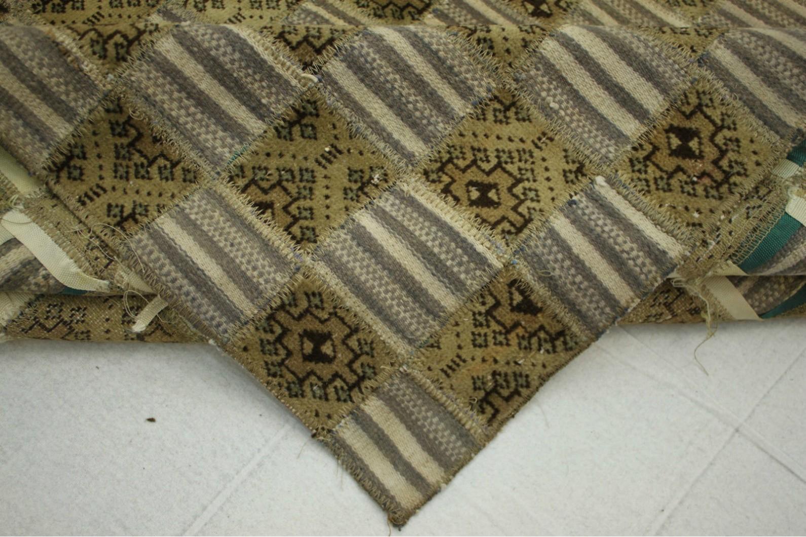 kelim patchwork teppich braun beige in 270x190cm 1001. Black Bedroom Furniture Sets. Home Design Ideas