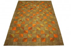 Patchwork Teppich Orange Braun in 300x200cm
