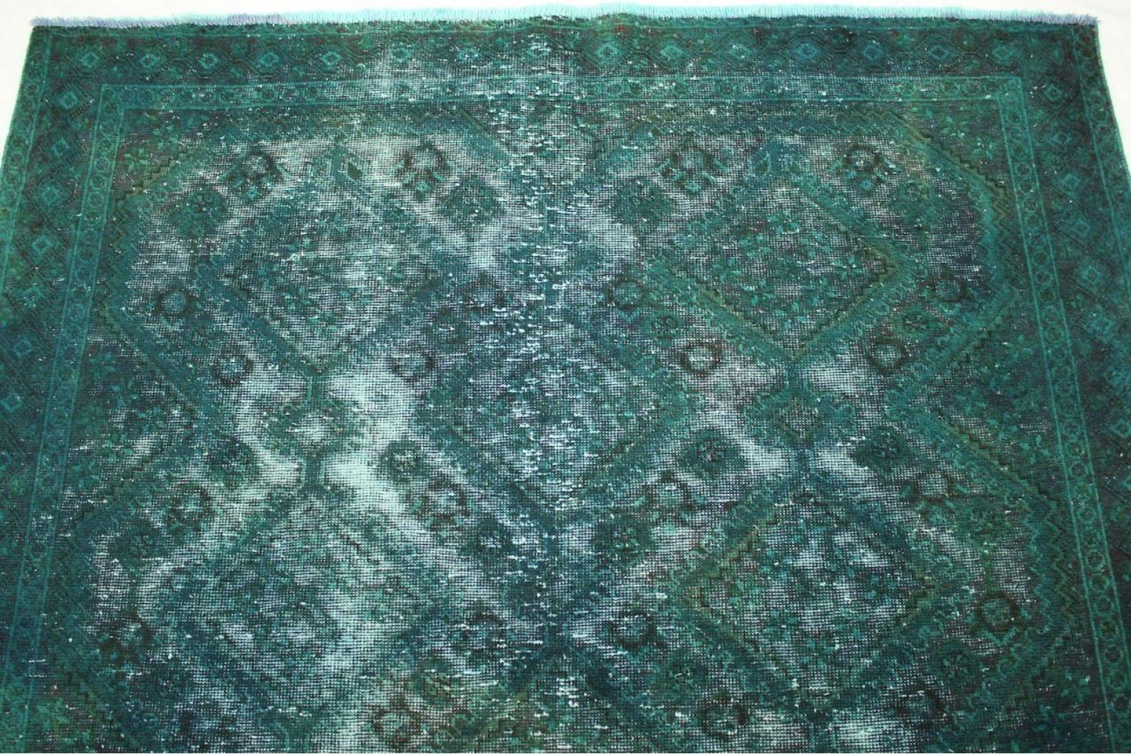 vintage teppich gr n t rkis in 210x150cm 1001 2423 bei. Black Bedroom Furniture Sets. Home Design Ideas