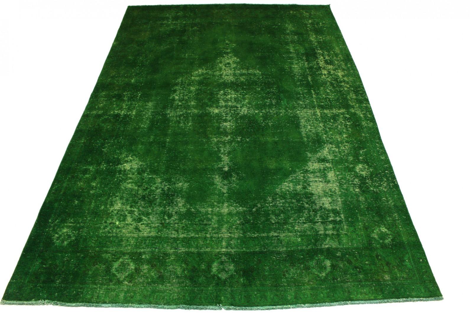 Vintage Teppich Grün in 350x240cm