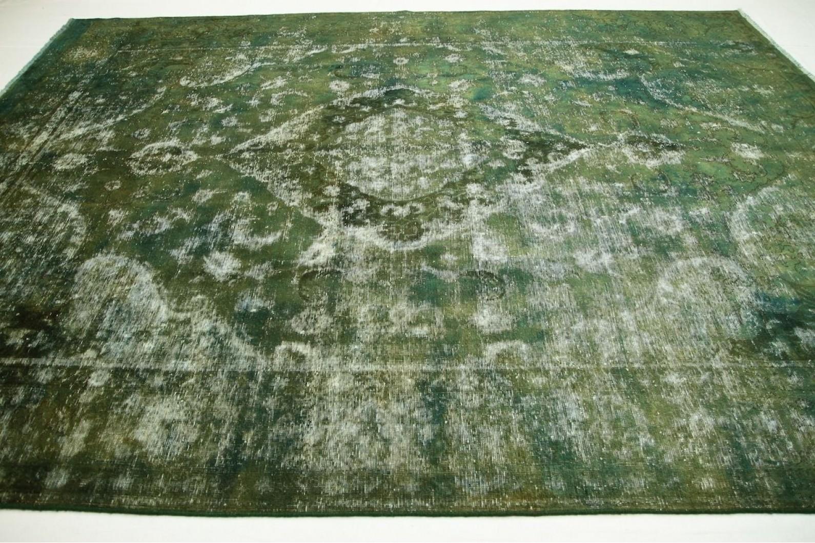 vintage teppich gr n blau in 400x300cm 1001 2469 bei. Black Bedroom Furniture Sets. Home Design Ideas