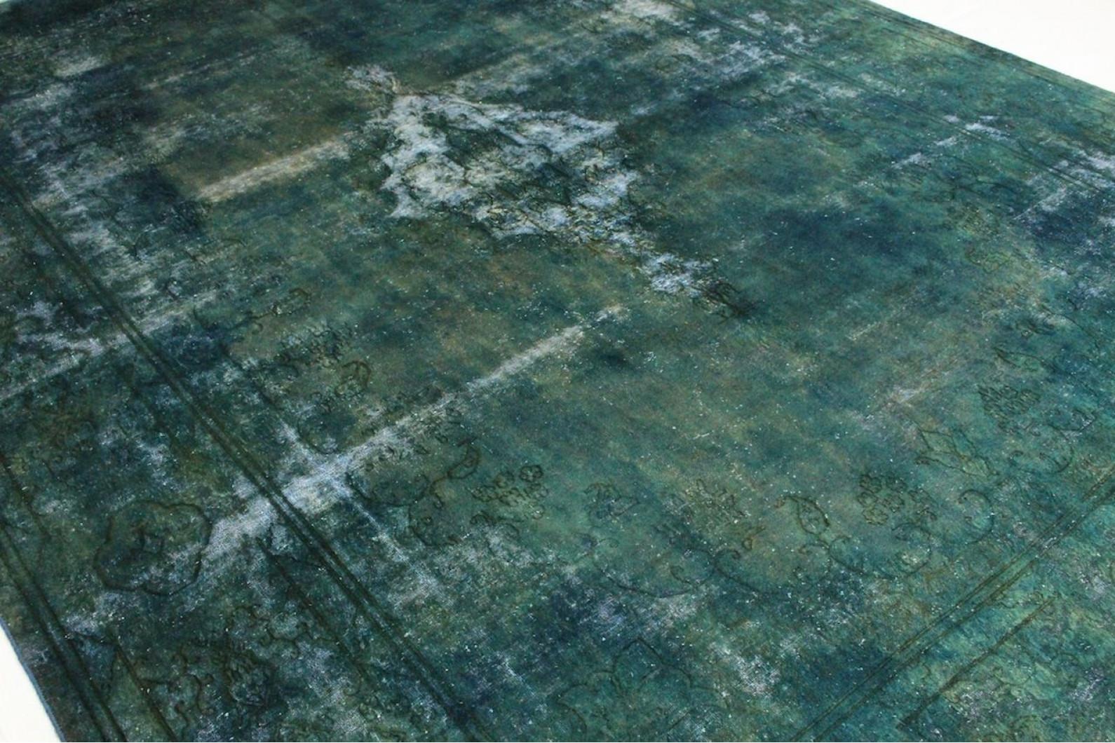 vintage teppich gr n blau in 400x300cm 1001 2475 bei. Black Bedroom Furniture Sets. Home Design Ideas