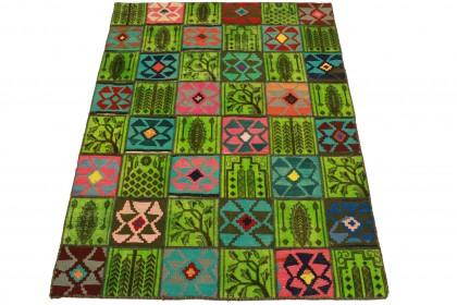 Patchwork Teppich Grün in 200x150cm 1001-2490