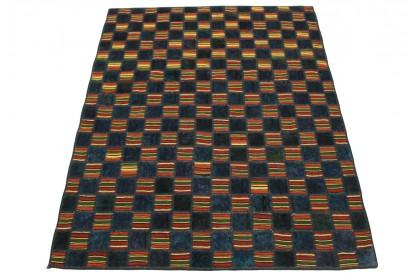 Patchwork Teppich Blau in 200x140cm