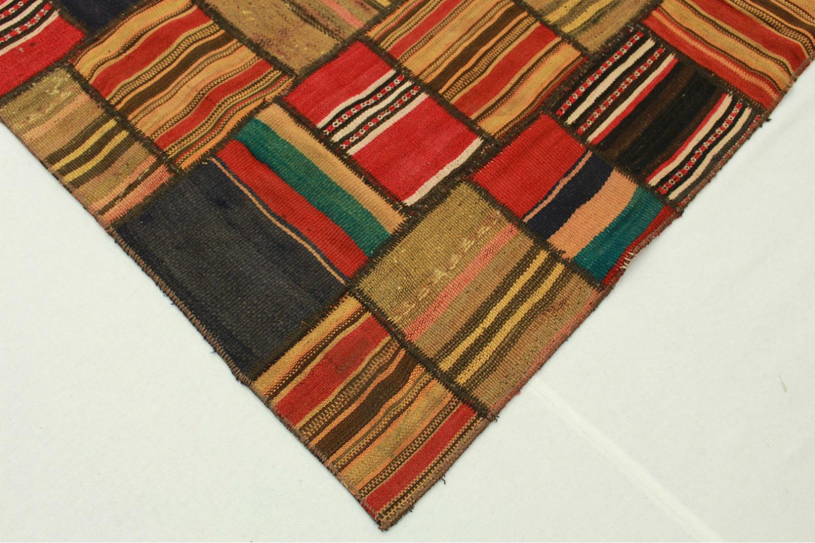kelim patchwork teppich braun rot in 230x170cm 1001 2500. Black Bedroom Furniture Sets. Home Design Ideas