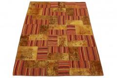 Patchwork Teppich Braun Rot in 270x200cm