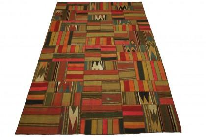 Kelim Patchwork Teppich in 310x200cm