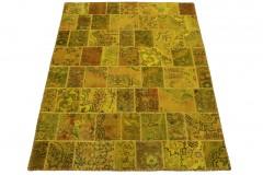 Patchwork Teppich Orange Curry in 200x150cm