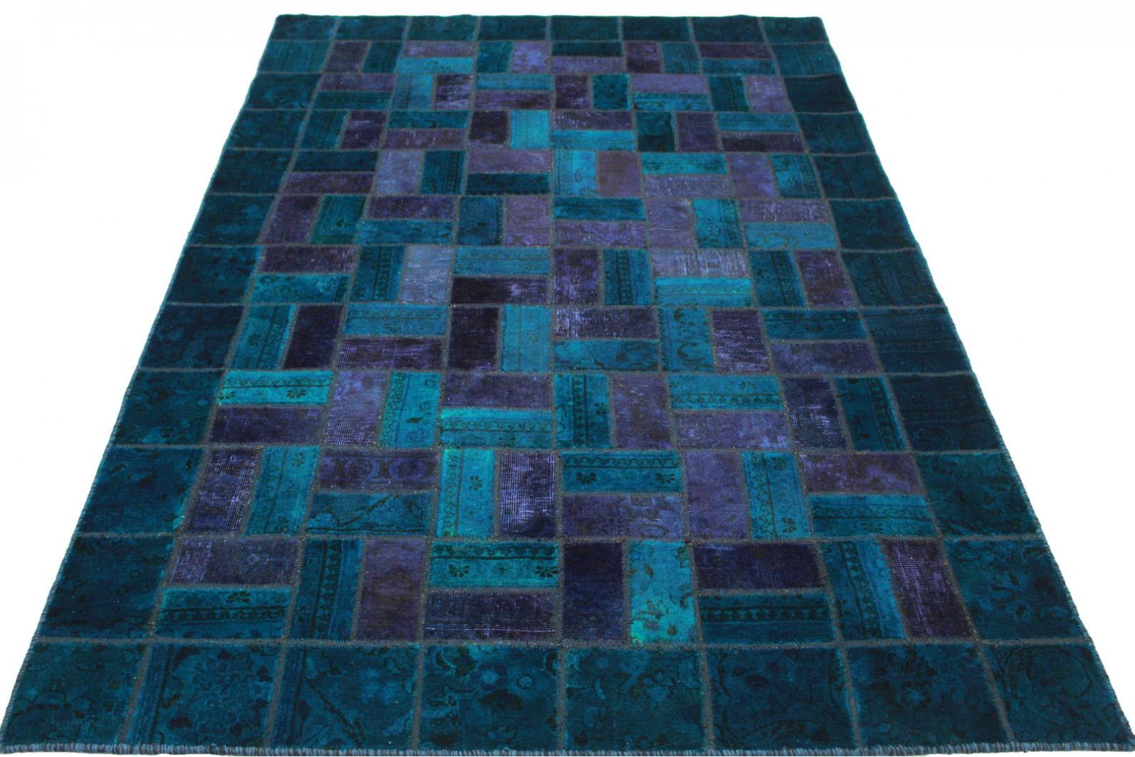 patchwork teppich blau violett in 240x160cm 1001 2551 bei kaufen. Black Bedroom Furniture Sets. Home Design Ideas