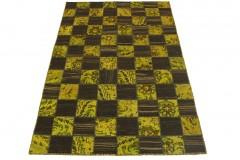 Kelim Teppich Braun Gelb in 240x160cm