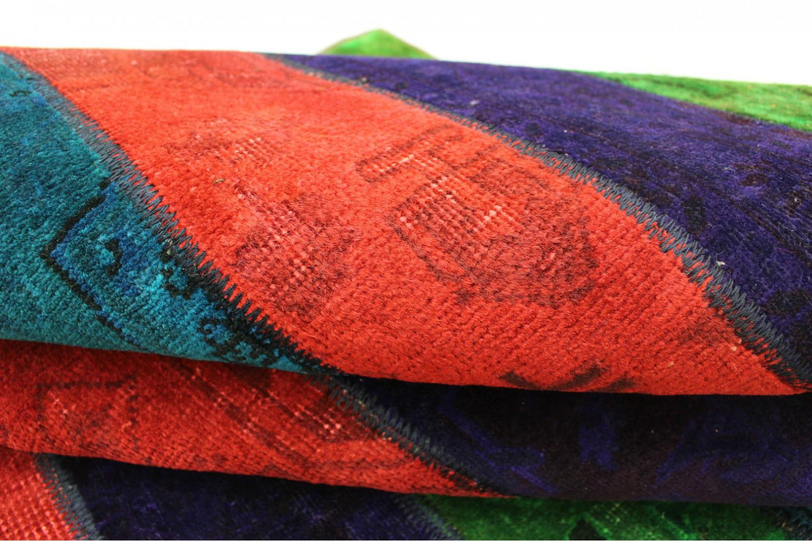 patchwork teppich rot lila blau in 240x170cm 1001 2562 bei kaufen. Black Bedroom Furniture Sets. Home Design Ideas