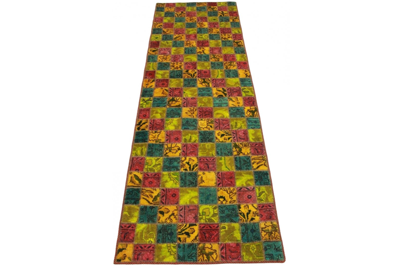 Patchwork teppich orange rot gelb in cm