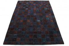 Patchwork Teppich Braun Rost in 200x140cm