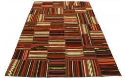 Kelim Patchwork Teppich Rot in 230x170cm