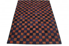 Patchwork Teppich Rot Lila in 250x170cm