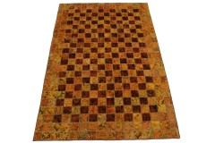 Patchwork Teppich Rot Curry in 250x160cm