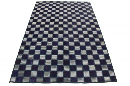 Patchwork Teppich Lila Beige in 240x160cm