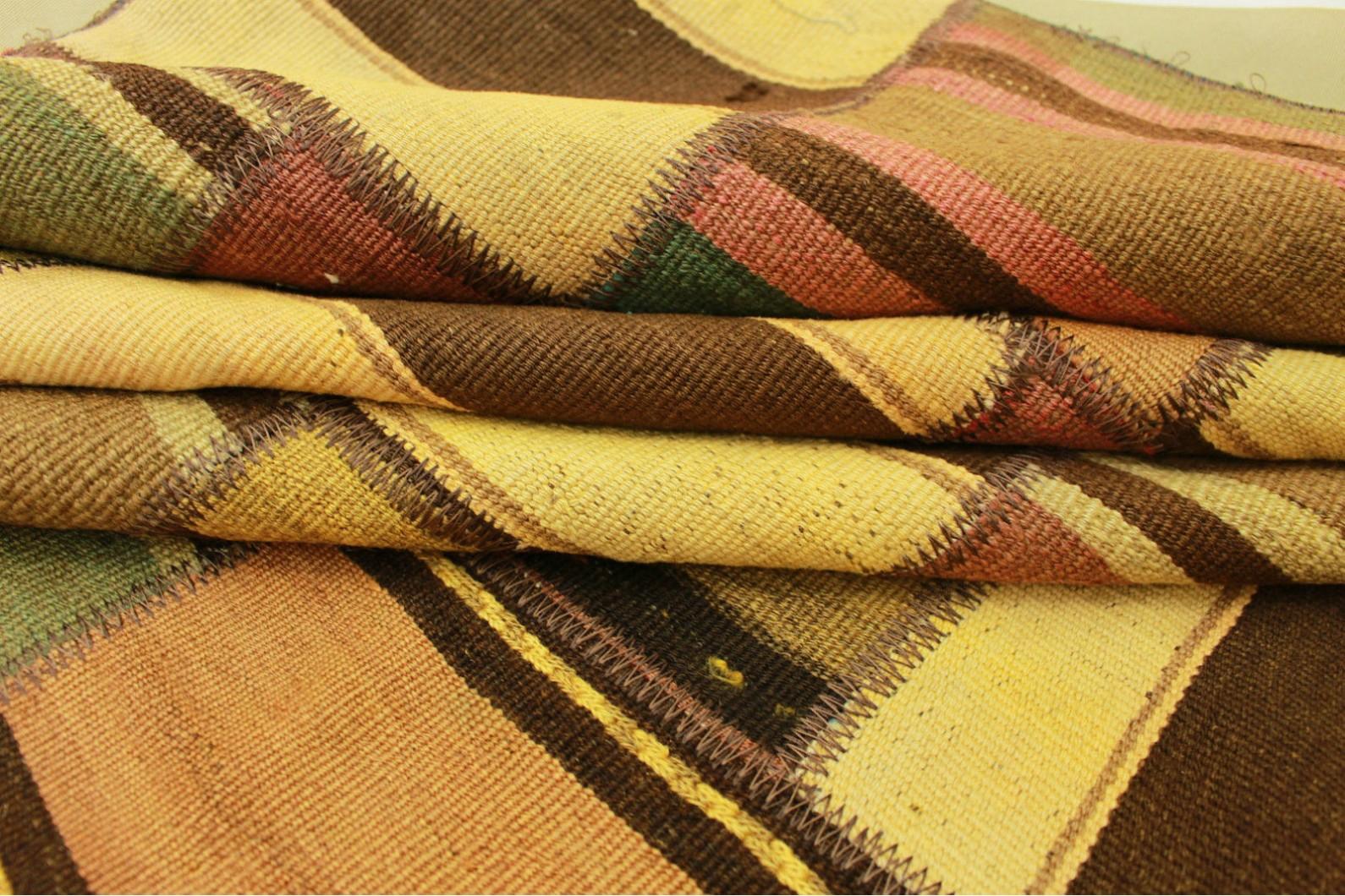 kelim patchwork teppich braun beige in 300x200cm 1001. Black Bedroom Furniture Sets. Home Design Ideas