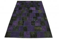Patchwork Teppich Lila Oliv in 310x200cm