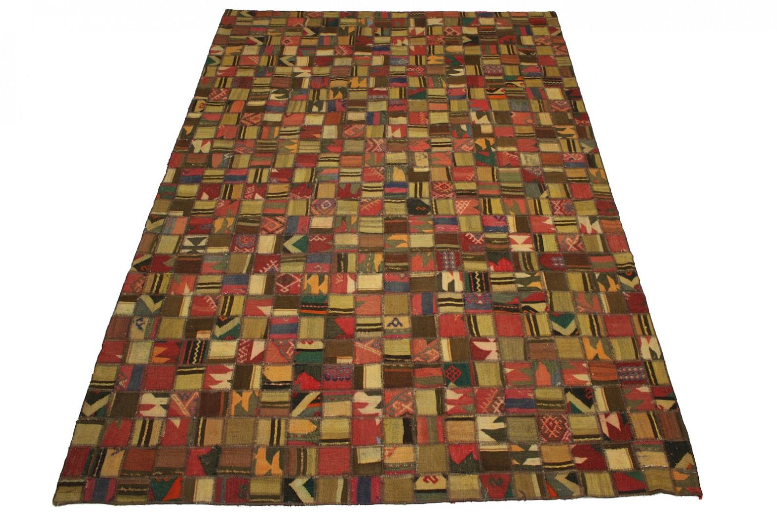 kelim patchwork teppich braun in 300x200cm 1001 2660 bei. Black Bedroom Furniture Sets. Home Design Ideas