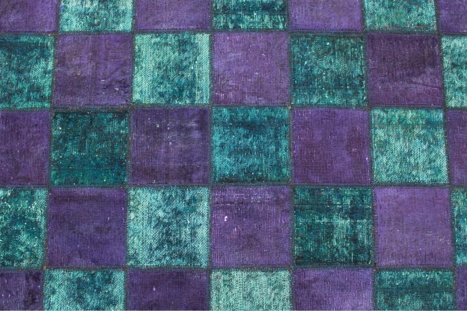 Patchwork Teppich Lila Türkis In 200x140cm 1001 2676 Bei Carpetido