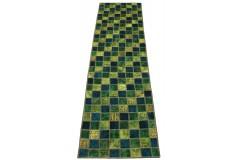 Patchwork Teppich Läufer Grün in 300x80cm