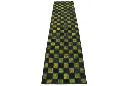 Patchwork Teppich Läufer Grün in 320x80cm
