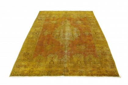 Vintage Teppich Orange Gold in 400x290cm