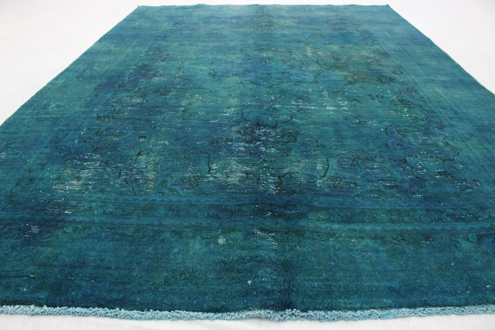 ... Vintage Teppich Grün Türkis In 280x190cm (4/5)