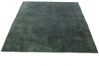 Vintage Teppich Grün Schwarz in 310x300cm 1001-2746