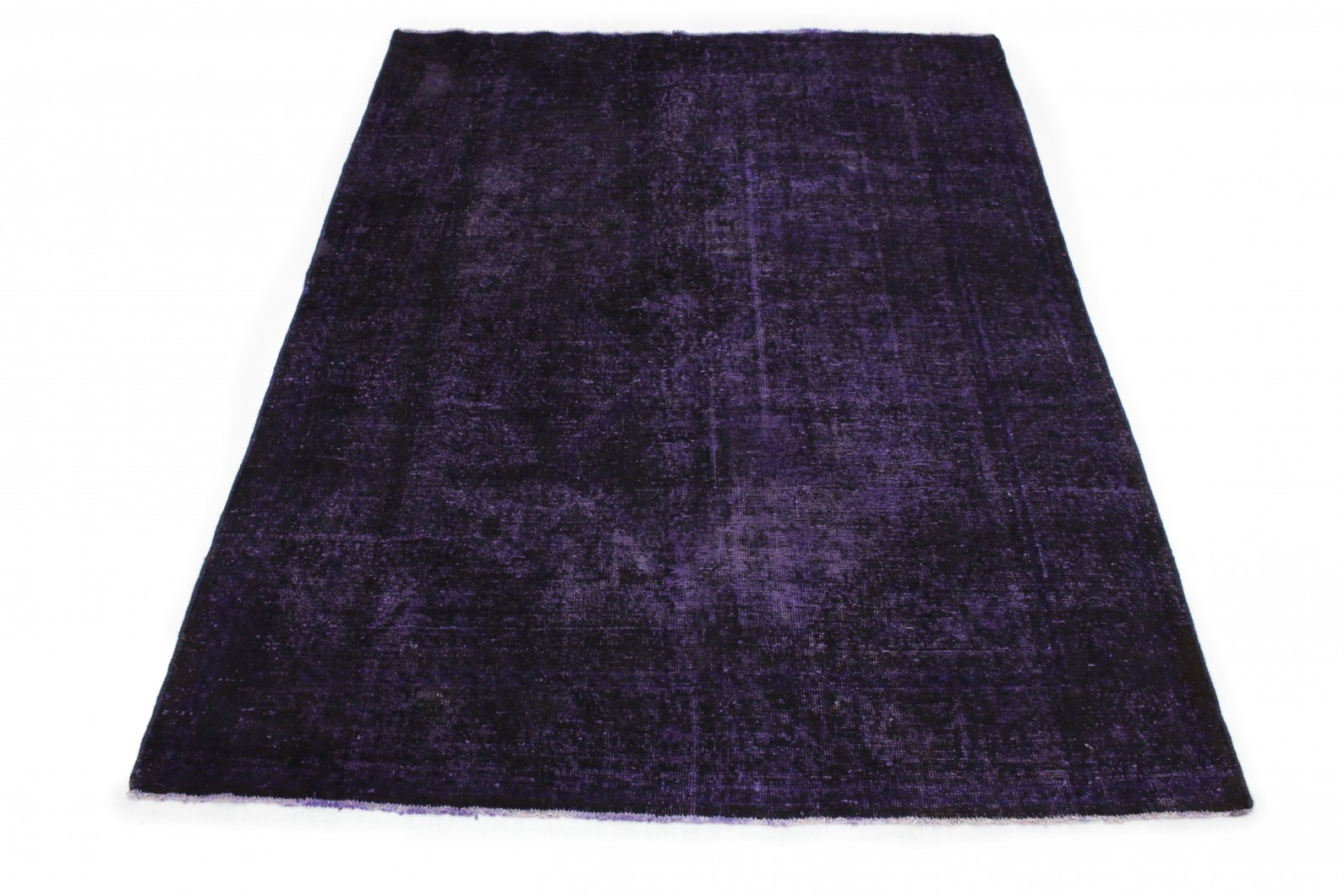Vintage Teppich Lila Schwarz in 290x210cm