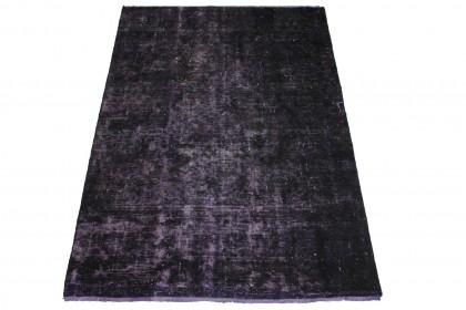 Vintage Teppich Lila Schwarz in 190x130cm