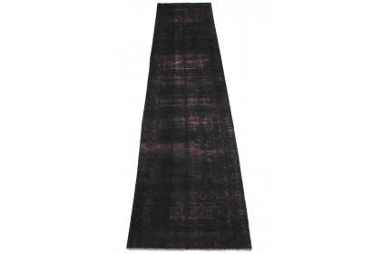 Vintage Teppich Schwarz in 390x90cm 1001-2820