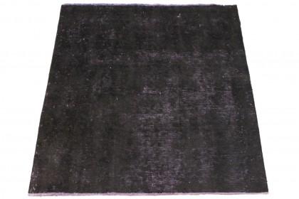 Vintage Teppich Schwarz Pink in 160x160cm