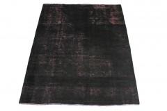 Vintage Teppich Schwarz Rosa in 190x150cm