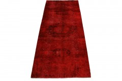 Vintage Rug Runner Red in 280x110cm